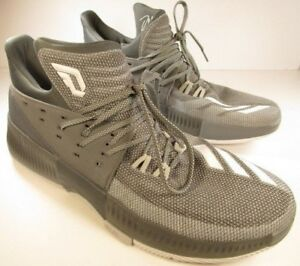 sale retailer ff831 67b0a Image is loading ADIDAS-DAMIAN-LILLARD-DAME-3-GREY-WHITE-BY3193-