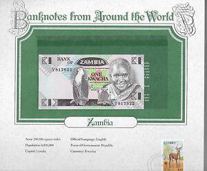 World Banknotes Zambia 1980 1 Kwacha P 23a UNC prefix 59/A