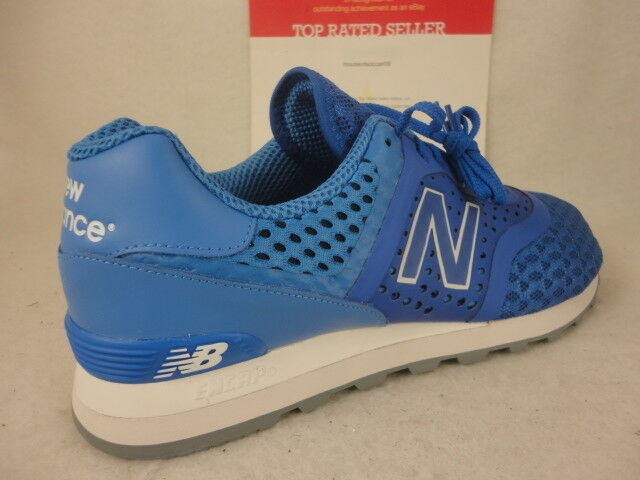 New Balance 574, MTL574CZ, bluee White, Synthetic   Mesh, Re-Engineered, Size 12