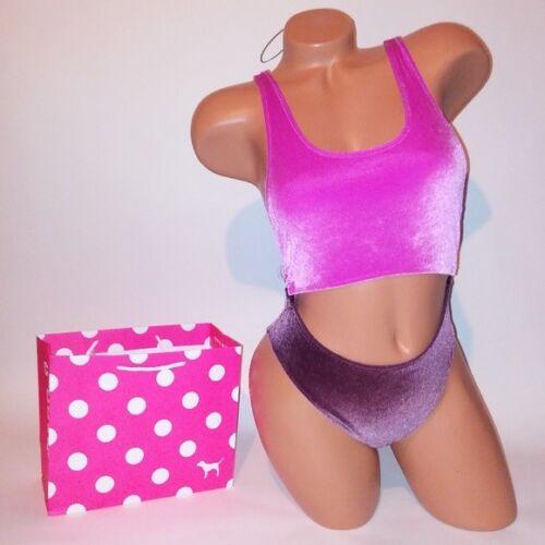 Victoria Secret PINK Swim Suit One Piece XS Velvet Purple Cutout