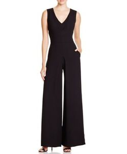 2 V Black Nouveau neck Double Vince Jumpsuit OaXwSq