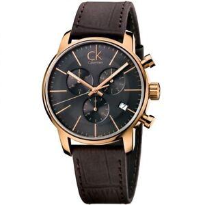 Calvin Klein Men's Chronograph Quartz Watch With Leather Strap K2G276G3