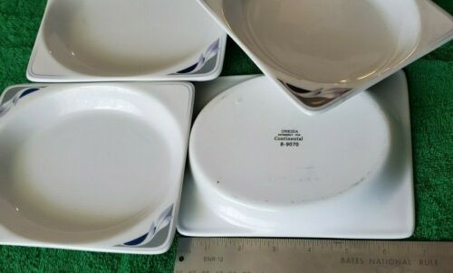 Details about  /Continental Airlines First Class Rectangle Plates by Oneida lot of 4