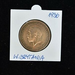 1936-George-V-One-Penny-Bronze-Fine-Condition