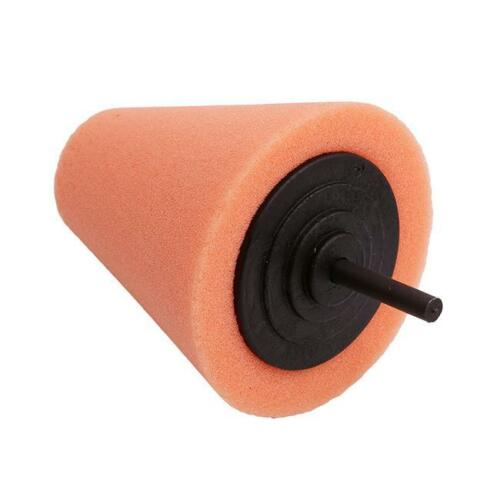 Car Wheel Hub Polish Buffing Shank Polishing Tool Foam Sponge Cone Shape Pad T