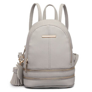 acf7054451 Ladies Girls Small Cute Mini Backpack PU Leather School Shoulder Bag ...