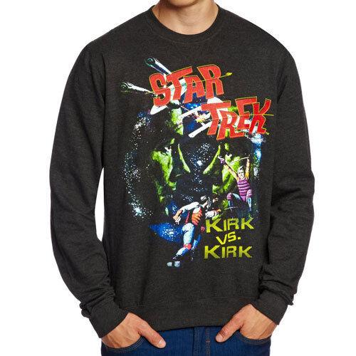 New /& Official Kirk Vs Kirk Men/'s Crew Neck Sweatshirt Jumper Star Trek