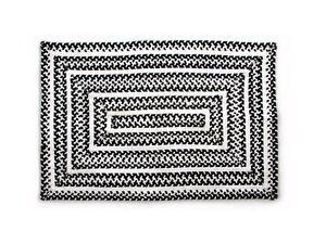 Image Is Loading Mackenzie Childs Crayon Braided Rug Black Amp White