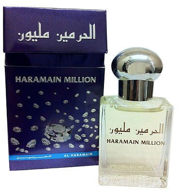Haramain Million Famous Oriental Pleasant Perfume Oil/Attar 15ml by al haramain