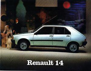 RENAULT-14-GTL-GTS-CATALOGO-PUBLICIDAD-ORIGINAL-BROCHURE-CATALOGUE-FASA-SPAIN