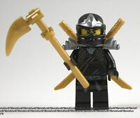 Lego Ninjago Cole Zx Minifigure W/golden Weapon From 9444
