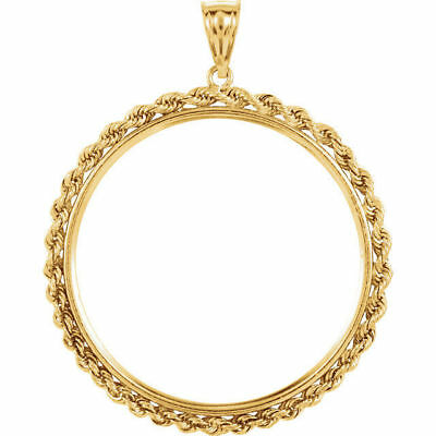 14k solid Yellow gold 4-Prong Coin Bezel Frame  $2.5 Indian Liberty  #5