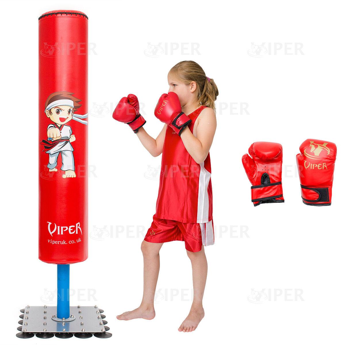 KINDER JUNIOR BOXING freistehender Boxsack Set JUNIOR HANDSCHUHE HANDSCHUHE HANDSCHUHE Kinder BOXEN 456ed9