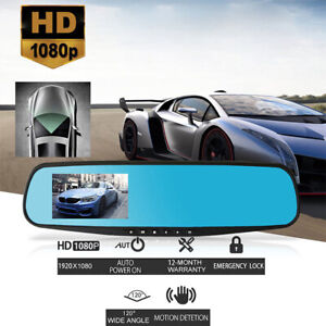 1080P-Wide-Angle-Len-Car-4-3-039-039-Auto-DVR-Mirror-Dash-Cam-Driving-Recorder-Camera