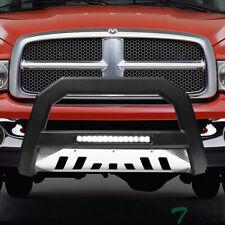 Topline For 2002 2009 Dodge Ram Avt Aluminum Led Bull Bar Matte Blackss Skid Fits 2005 Dodge Ram 1500