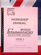Shop Manual Fits Norton Commando 850 Mk3 Electric Start 1974 1975 1976