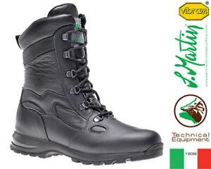 San Militari Leather Vibram Invernali Stivali Moto Martin 237 6ZqwzS