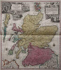 Écosse-nova Et Accurata Totius Regni Scotiae-seutter 1740-rare Map-afficher Le Titre D'origine Y1ofqpxg-10112106-776760336
