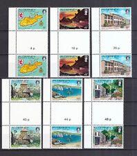 Alderney 1983 postfrisch Stegpaar MiNr. 1-12 mit Seitenrand links