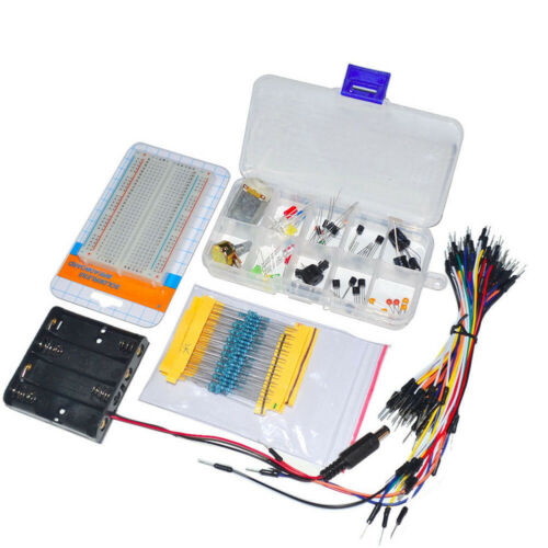 Elektronische Komponenten Teil Steckplatine LED Kabel Resistor Thermisor Scherz