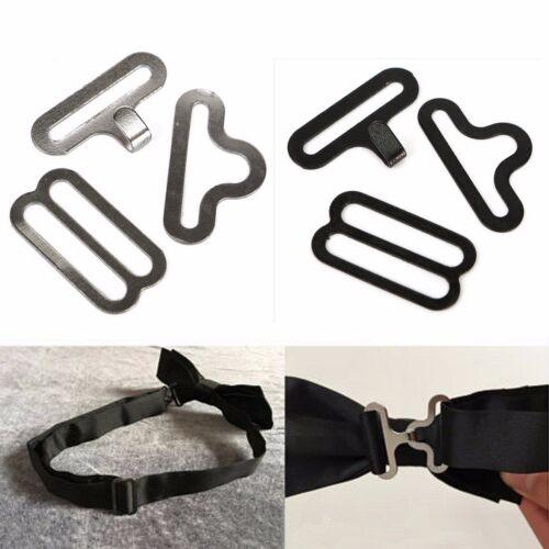 5~30Sets Bow Tie Clip Hardware Cravat Clips Hook Fastener For Necktie Strap