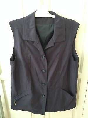 2019 Nuovo Stile Women's Vintage Elegante Blu Scuro Corpo Più Caldo/giacca Senza Maniche Con Bottoni Taglia 12-mostra Il Titolo Originale Facile Da Lubrificare