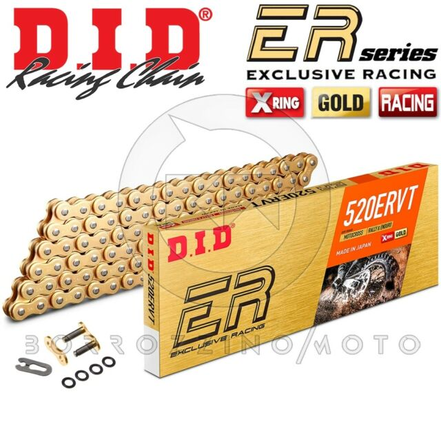 Chaîne Transmission DID 520 Ervt G&g 120 Maillons Racing Moto Hors Route Enduro