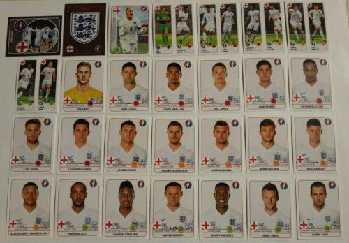 EURO 2016 ENGLAND Inghilterra CALCIATORI PANINI Europa *** SCEGLI FIGURINA ****