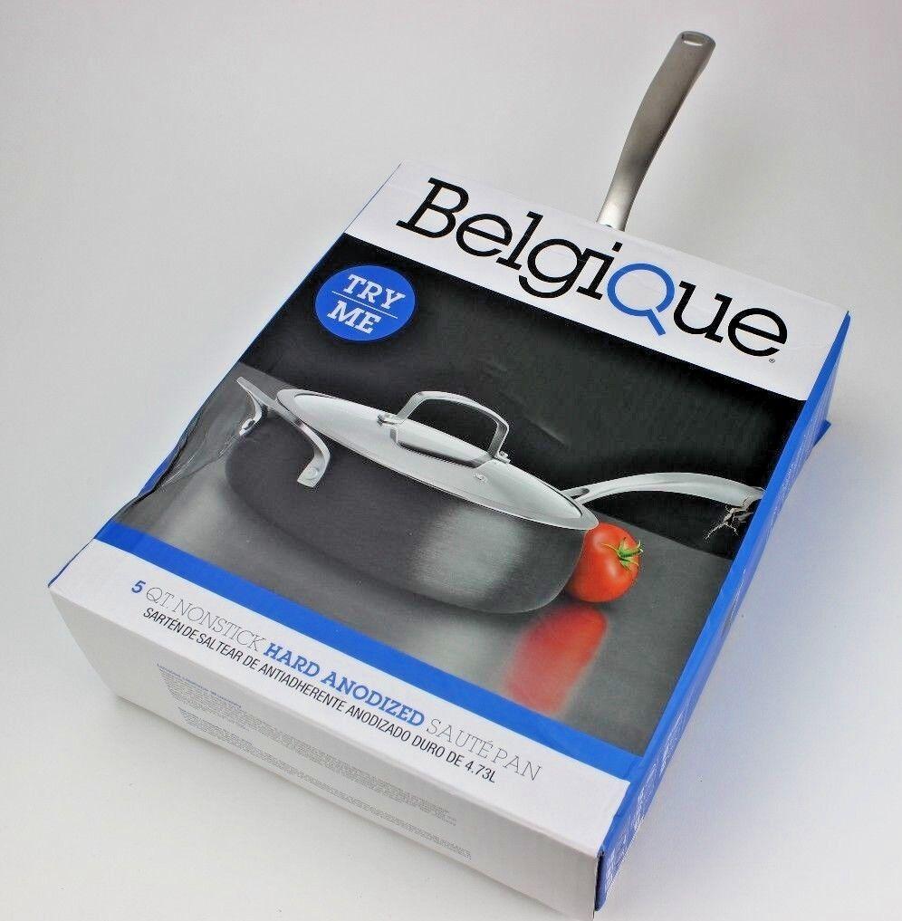 Belgique Hard-Anodized 5-Qt. Sauté Pan with Lid