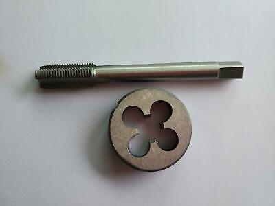 1pc HSS M8 X 1mm Plug Left Tap and 1pc M8 X 1.0mm Left Die Threading Tool