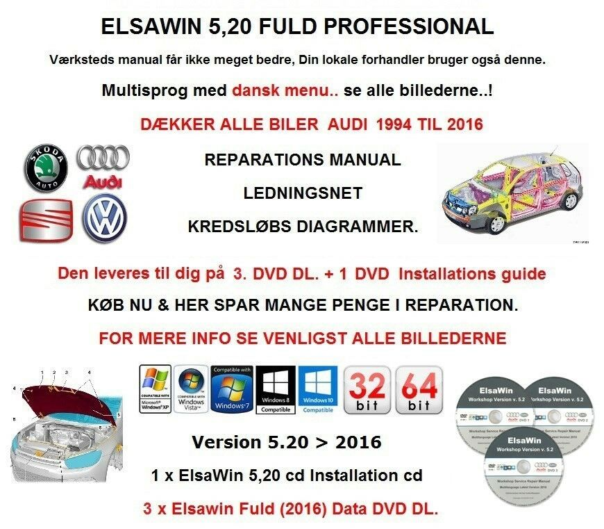 Audi, Reparation Manual Elsawin 5.20 Service