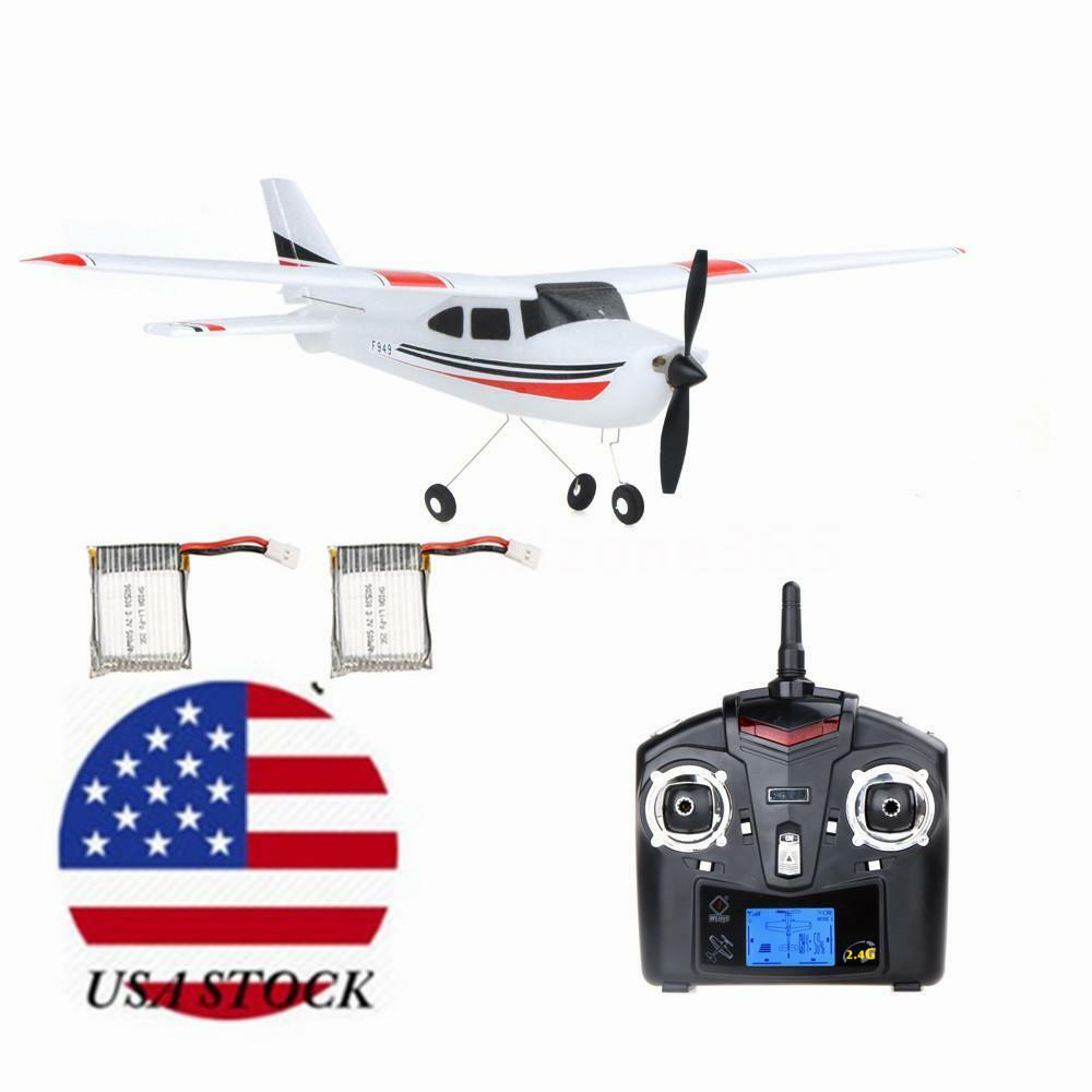 Style Wltoys F949 2.4G 3CH RC Airplane Fixed Wing Plane Two Battery Drone Q7V8