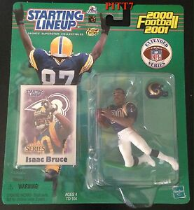 ISAAC BRUCE 2000-2001 STARTING LINEUP FOOTBALL UNOPENED NEW EXTENDED SERIES