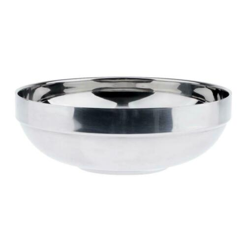 Korean Stainless Soup Rice Bowl Dish Ramen Noodle Bowl Food Container Sliver
