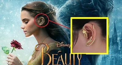 Beauty And The Beast Earrings Ear Cuff Belle Cosplay Jewelry Gold Plated Rose Ebay