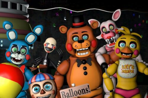 Five nights at Freddy/'s FNaF Edible Party Cake Image Topper Frosting Icing Sheet