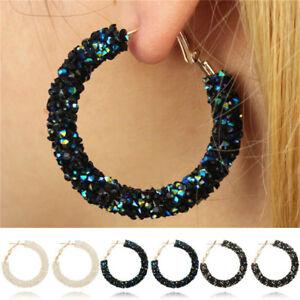 Fashion-Women-Elegant-Hook-Earrings-Crystal-Ear-Stud-Dangle-Hoops-Jewelry