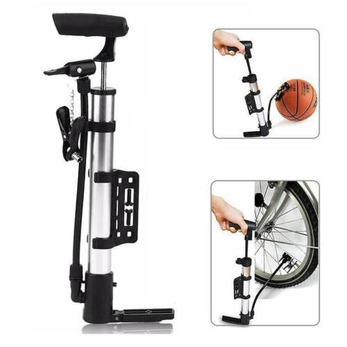 Portable Bicycle Air Pump Multi-purpose Ball and Bike Tyre Inflator Silver