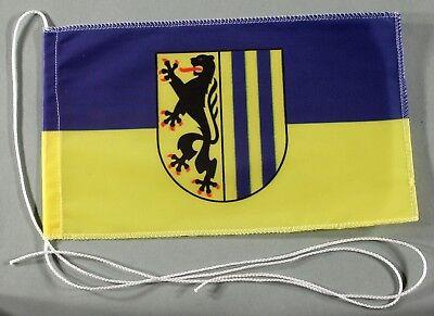 Lübeck Tischflagge 15x25 cm Profi Qualität Tischfahne Autoflagge Bootsflagge