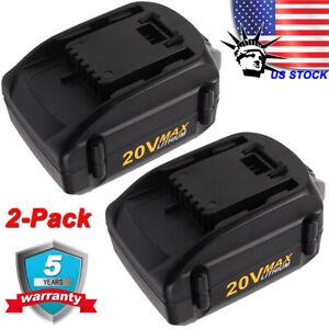 2PACK-For-WORX-WA3578-20V-4-0Ah-Lithium-Ion-High-Capacity-Battery-WA3520-WA3525