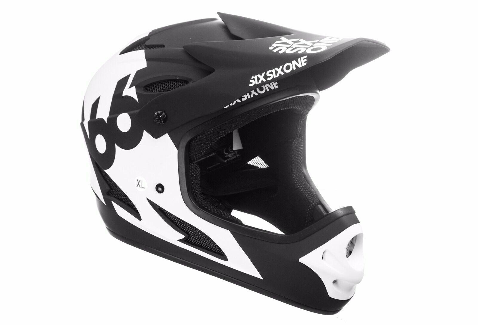 SixSixOne 661  Comp  Full Face MTB Mountain Bike  BMX Helmet  Matt bianca