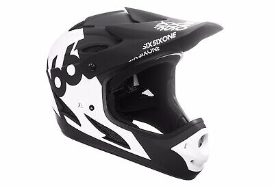 BMX Helmet Tundra White SixSixOne 661 Full Face MTB Mountain Bike Reset