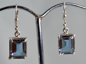 100-color-change-Lab-Created-Alexandrite-925-Solid-Sterling-Silver-Earrings