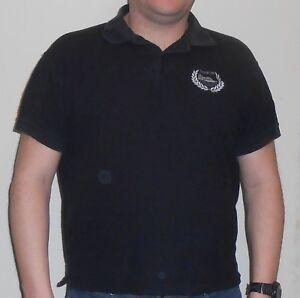 Gibraltar Poloshirt Schwarz Größe L JHK The Rock Fan Polo Shirt Souvenir 1A Gut