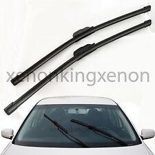 """All Season (2Pc) 19""""+24"""" U/J Hook OEM Bracketless Windshield #x36 Wiper Blades"""