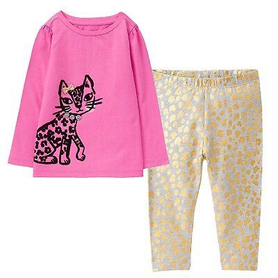 NWT Gymboree EIFFEL FLOWERS Girls Size 4T Puppy Tee Shirt Top Leggings 2-PC SET