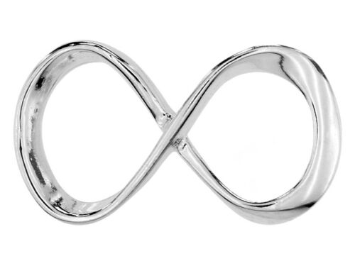 Sterling silver 925 infinity symbol charm pendant spacer W70