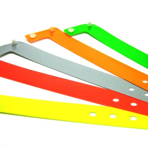 100 Kunststoff Eintrittsbänder Kontrollbänder Einlassbänder Vipbänder soft comfo