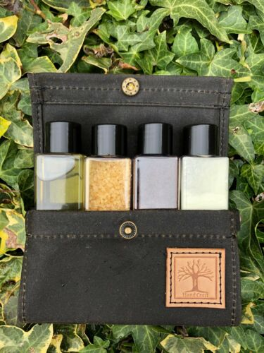 CONTAINERS INCLUDED Waxed Cotton Container wallet Bushcraft Camping