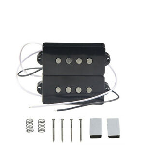 NEW-Alnico-5-PB-Electric-Bass-Pickup-Set-Black-Color-for-4-String-Precision-Bass